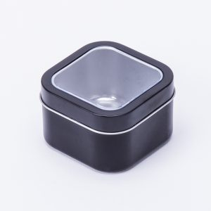 Square Black Tin with window